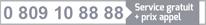 0 809 10 88 88 – Service & Appel gratuits